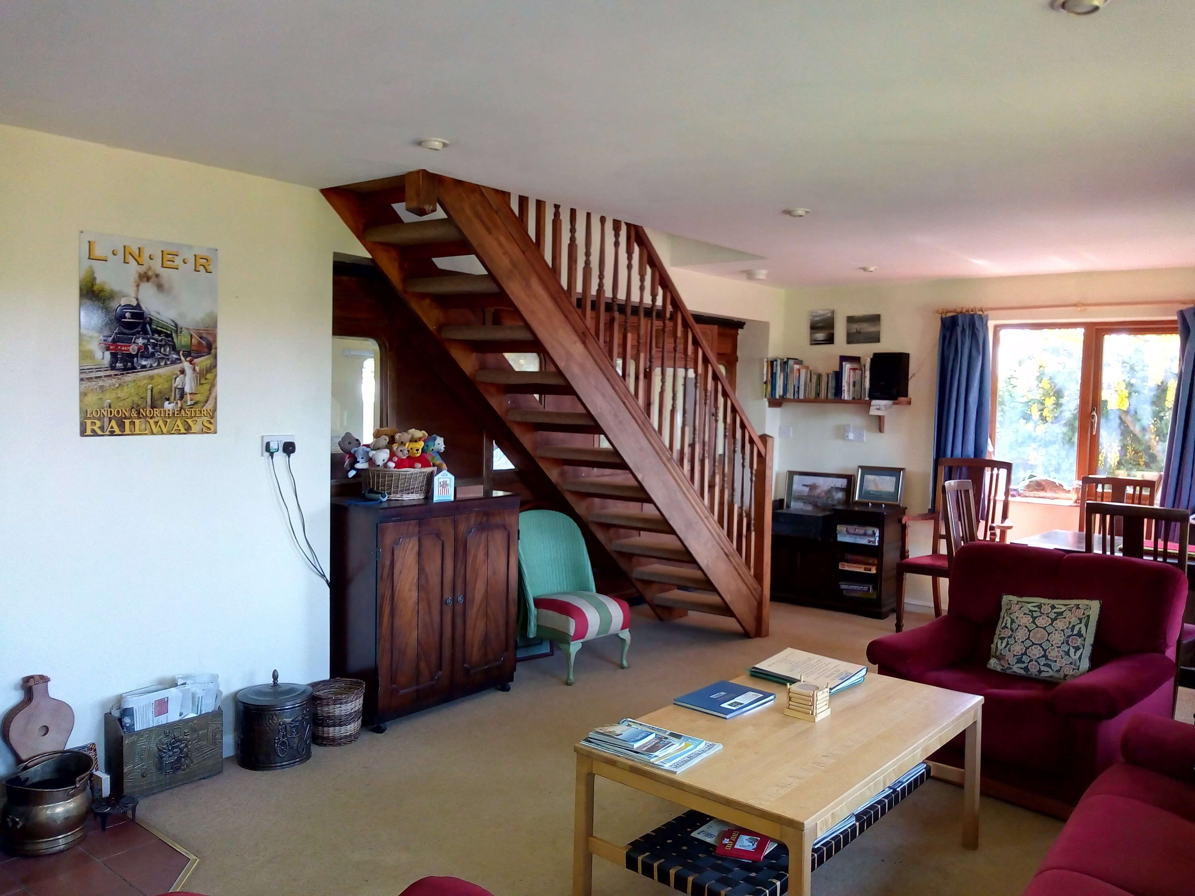 The living room of The Patch Holidays a self catering holiday home in Snettisham Norfolk