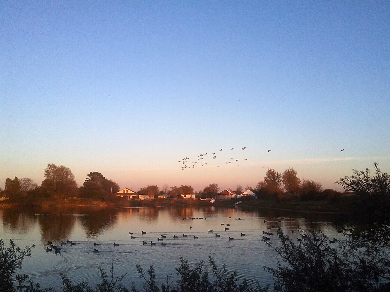 Sunset-lake-The-Patch-holiday-home-Snettisham